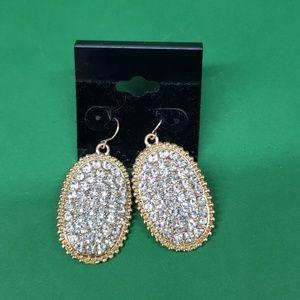 Jewelry - Goldtone rhinestone dangle earrings,  new